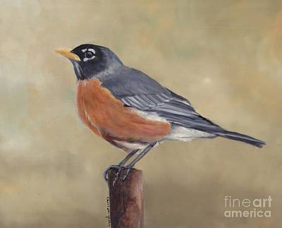 Painting - Robin by Charlotte Yealey