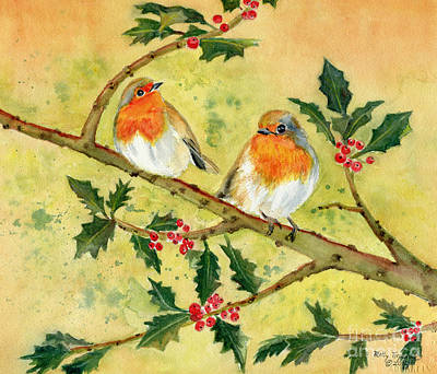 Painting - Robin Couple by Melly Terpening