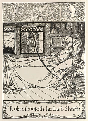 Robin Dying Print by British Library