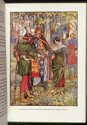 Illustrati Photograph - Robin Hood And Maid Marian by British Library