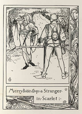 Robin Hood And Will Scarlet Print by British Library