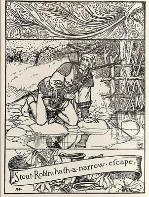 Robin Hood Print by British Library