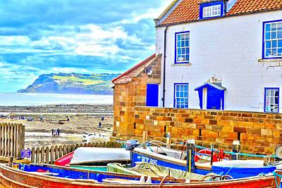 Photograph - Robin Hood's Bay by Dave Woodbridge