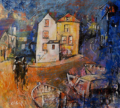 Wall Art - Painting - Robin Hood's Bay Evening by Neil McBride
