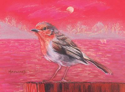 Robin In Red Landscape Original