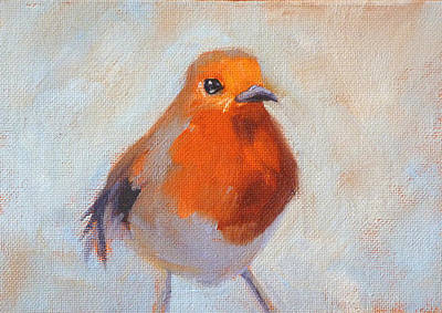 Painting - Robin by Nancy Merkle