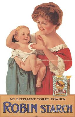 Nineteen-tens Drawing - Robin Starch 1911 1910s Uk Babies by The Advertising Archives
