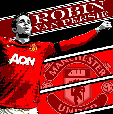 Famous Wall Art - Photograph - Robin Van Persie Manchester United Print by Pro Prints