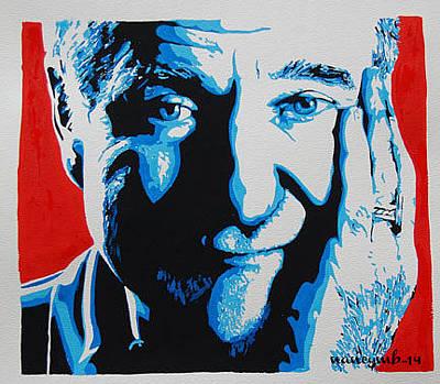 Mixed Media - Robin Williams. by Nancy Mergybrower