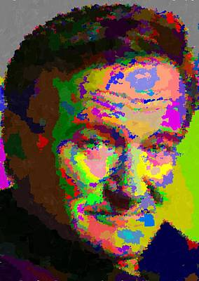 Painting - Robin Williams - Abstract by Samuel Majcen