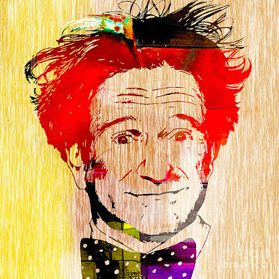 Mixed Media - Robin Williams Art by Marvin Blaine