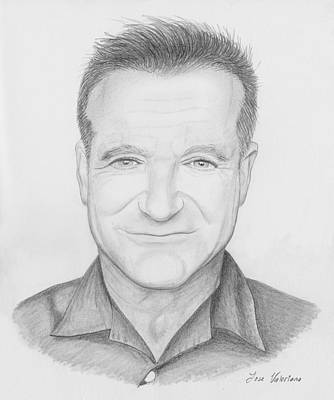 Drawing - Robin Williams by M Valeriano