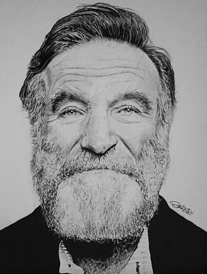 Inspired Drawing - Robin Williams by Joshua Navarra