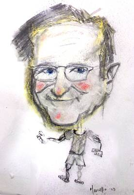 Buy Drawing - Robin Williams by Marcello Cicchini