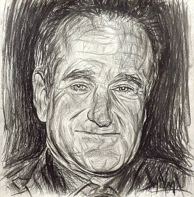 Drawing - Robin Williams by Michael Morgan
