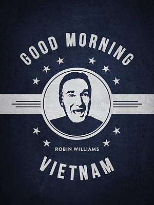 Robin Williams Digital Art - Robin Williams - Navy Blue by Aged Pixel