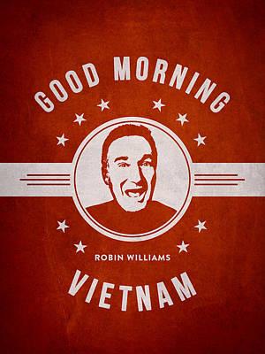 Robin Williams Digital Art - Robin Williams - Red by Aged Pixel