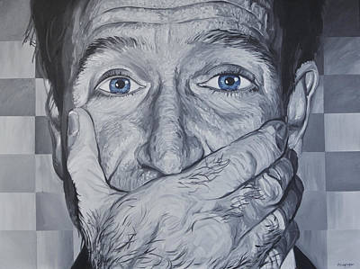 Painting - Robin Williams by Steve Hunter