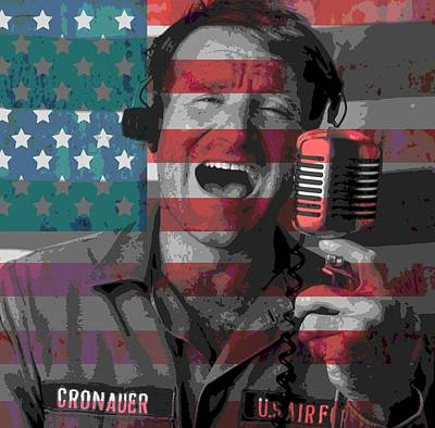 American Flag Mixed Media - Robin Williams Tribute Good Morning Vietnam by Dan Sproul