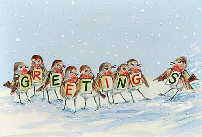 Choir Painting - Robins Late Arrival by David Cooke
