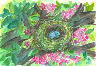 Painting - Robin's Nest by Cathie Richardson