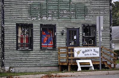 Robin's Nest Store In Autumn Michigan Usa Art Print by Sally Rockefeller