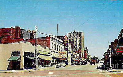 Robins Theatre In Niles Oh In The 1950's Art Print by Dwight Goss