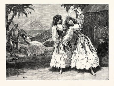 Robinson Crusoe The Guards Burlesque At The Chelsea Art Print by English School