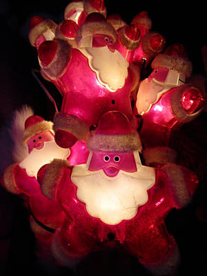 Photograph - Robo Group Santas by Randall Weidner