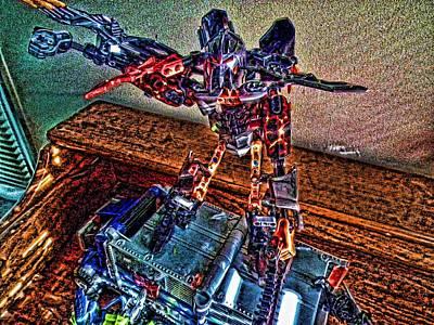 Robo Man Art Print by Robert Rhoads