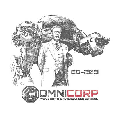 Digital Art Royalty Free Images - Robocop - Omnicorp ED-209 Royalty-Free Image by Chad Lonius