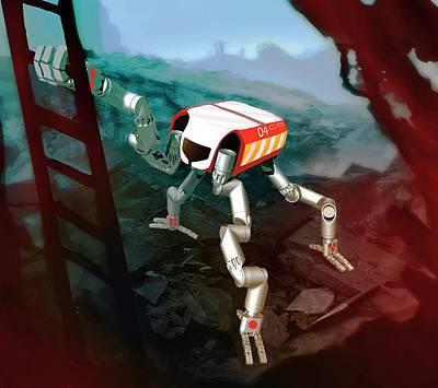 Robosimian Disaster Relief Robot Art Print