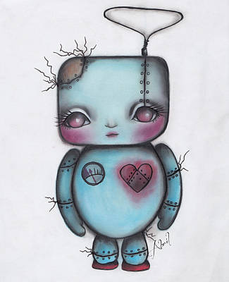 Painting - Robot by  Abril Andrade Griffith