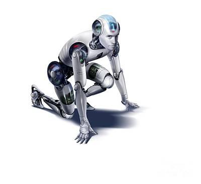 Science Fiction Photograph - Robot, Artwork by Wieslaw Smetek