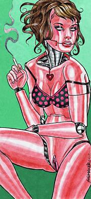 Prison Painting - Robot Girl No. 2 by David Shumate
