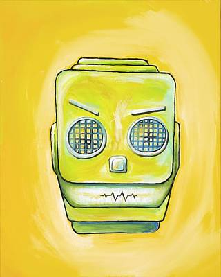 Painting - Robot Head by David Junod
