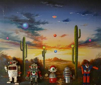 Robot Party  Art Print