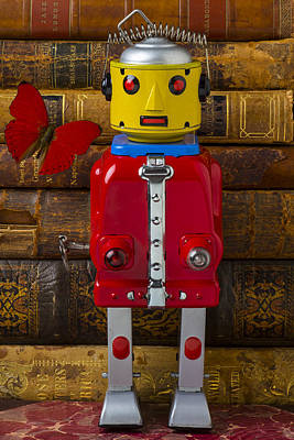 Photograph - Robot With Butterfly by Garry Gay
