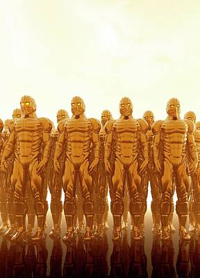 Future Photograph - Robotic Army by Victor Habbick Visions