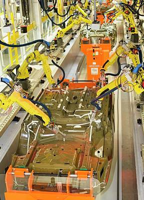 Sterling Photograph - Robotic Car Production Line by Jim West