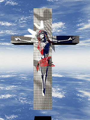 Robotic Christ Made In Spain Print by Quim Abella