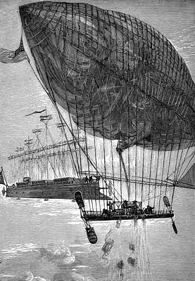 Albatross Drawing - 'robur Le Conquerant' [the Clipper by Mary Evans Picture Library