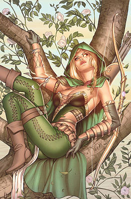 Robyn Hood Wanted 05c Art Print by Zenescope Entertainment