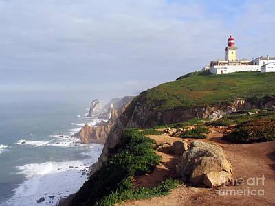 Cliff Photograph - Roca Cape Lighthouse  by Jose Elias - Sofia Pereira
