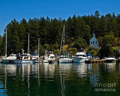 Photograph - Roche Harbor Reflections by Chuck Flewelling