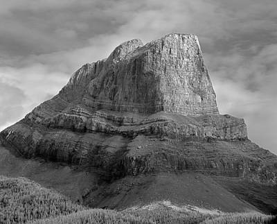 Photograph - 103976-roche Miette 2 Bw by Ed  Cooper Photography
