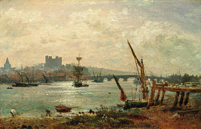 Technical Painting - Rochester Cathedral And Castle, Frederick Nash by Litz Collection