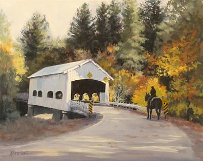 Painting - Rochester Covered Bridge by Karen Ilari