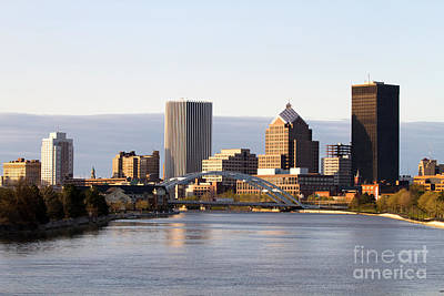 Rochester New York Skyline Art Print