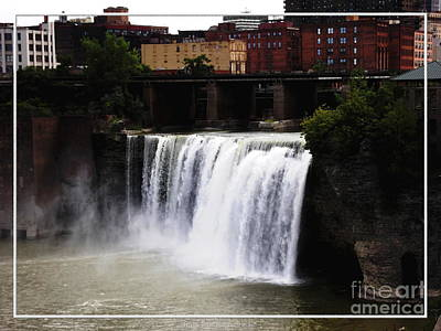 Photograph - Rochester Ny High Falls by Rose Santuci-Sofranko